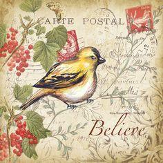 Programa de Licenciamento de Arte do Tre Sorelle. This would make a beautiful card front.