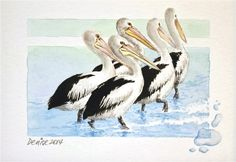 Denise Dean, painter. Pelicans. #handmade #handcrafted #house #home #arcadianartists  #artexhibition #painter #painting #decor #art #artists  #exhibition