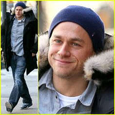Charlie Hunnam's Smile Warms Us Up in this Freezing Weather! | Charlie Hunnam : Just Jared