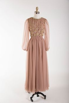Dipped in Decadence Evening Gown 1960s vintage