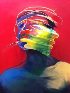 Dimensional painting and scultpute by adam neate