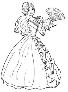 The 275 Best Barbie Coloring Pages Images On Pinterest
