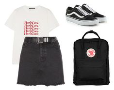 """""""Untitled #134"""" by katerinavra on Polyvore featuring AlexaChung, New Look, Fjällräven and Vans"""