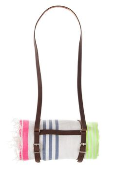 Lala Beach Blanket with Leather Harness