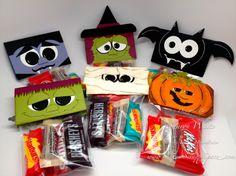 Halloween Punch Art Treat Bags