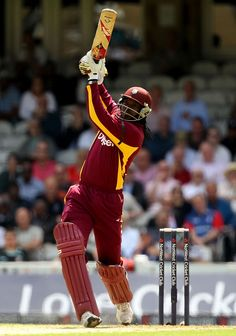 "Christopher Henry ""Chris"" Gayle is a Jamaican cricketer who plays international cricket for the West Indies. He captained the West Indies' Test side from 2007 to T20 Cricket, Cricket Bat, Cricket Sport, History Of Cricket, World Cricket, Rugby, Watch Live Cricket, Cricket Equipment, Cricket Wallpapers"