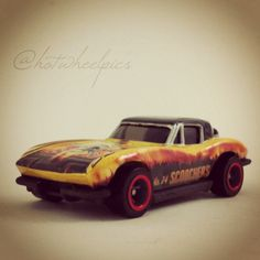 "'63 Corvette - 2003 Hot Wheels HWY 35 World Race ""Scorchers"" #hotwheels 
