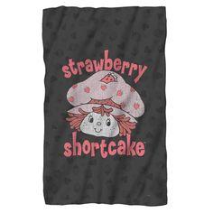 Strawberry Shortcake/Smile Fleece Blanket in