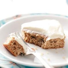 MAKEOVER FROSTED BANANA BARS RECIPE FROM SUSAN STUFF IN MERCERSBURG, PENNSYLVANIA €� FROM HEALTHY COOKING MAGAZINE