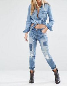 Mango Patchwork Jean
