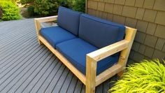 Modern Rustic Outdoor Sofa Inspired by RH Merida
