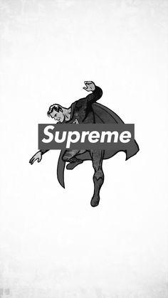 supreme x superman    wallpaper