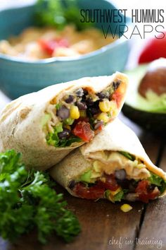 Southwest Hummus Wraps | 27 Insanely Delicious Recipes You Won't Believe Are Vegan
