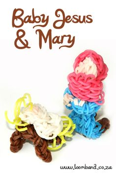 Baby Jesus and Mary loom band tutorial http://loomband.co.za/baby-jesus-and-mary-loom-band-tutorial/