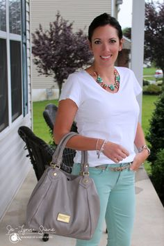 It's easy to dress up a cute white T Shirt with some adorable accessories!