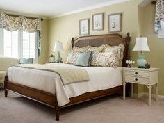 Master bedroom. Valerie Garrett Interior Design. Green bedroom. Interior design. Macon, GA.