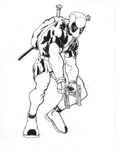 deadpool coloring pages photos - Deadpool Coloring Book