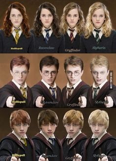I don't really understand these things. Even if Harry was sorted into Slytherin or whatnot he'd still look exactly the same? There is no rule saying that all Slytherins are blonde and scary looking and physical traits do not, and should not, change a Hufflepuff into a Gryffindor or even sway the Sorting Hat's decision in any way. << I hear what you're saying but I'm not understanding it. I'm focusing on hot Ron looks as a Ravenclaw. <3 Guess we just take the good looking ones…