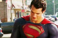 Henry Cavill as Superman in Zack Snyder's Man of Steel.