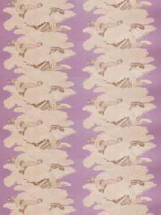 """Les Plumes Chintz"" in lavender by Barry Dixon for Vervain. Palette: Loving Lilac, October 2015."