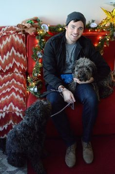 Ian Harding Cuddling With Adorable Puppies Is Actually Everything