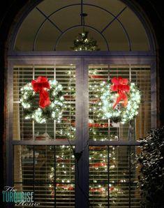 Nighttime Outdoor Holiday Decor