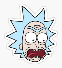 Rick and Morty Fan Art - Rick and Morty Sticker - Meme Stickers, Cartoon Stickers, Tumblr Stickers, Phone Stickers, Diy Stickers, Printable Stickers, Frühling Wallpaper, Rick And Morty Stickers, Aesthetic Stickers