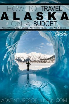 Want to visit Alaska and have your money go further? You CAN travel Alaska on a budget! Find out where to sleep, what to eat, what to do and when to go to help you budget travel Alaska. Pictured: Spencer Glacier, AK