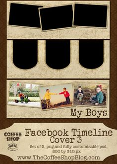 CoffeeShop Free Facebook Timeline Covers, Set 3.