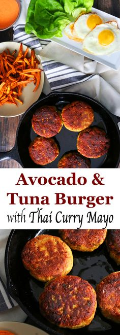 Healthy Avocado and Tuna burger with Thai curry mayo | Thai burger | Tuna burger | avocado burger | healthy burger | Thai mayonnaise