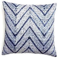 Turquoise Blue Melaya Zig Zag Pillow contemporary-pillows