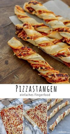 Einfaches Rezept für Pizzastangen - tolles Fingerfood & leckerer Snack recipes for dinner recipes for two recipes keto recipes quick recipes salads recipes shrimp food recipes food recipes food recipes food recipes Quick Snacks, Yummy Snacks, Healthy Snacks, Simple Snacks, Quick Easy Meals, Delicious Food, Party Finger Foods, Snacks Für Party, Simple Finger Foods