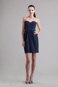 Lace for bridesmaids- Jenny Yoo Hudson Dress in Navy: available at The White Dress by the shore