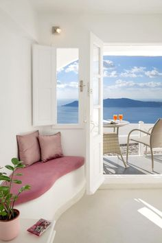 10 Gorgeous Greek Islands You Haven't Heard Of Yet - Travel Den Banquette D Angle, Santorini House, Santorini Island, Santorini Greece, Mykonos, Architecture Design, Dream Beach Houses, Greek House, Greek Islands