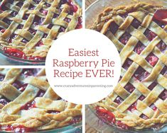 Lisa wanted to make an raspberry pie to thank a neighbor, and now she can't stop making them with this easy raspberry pie recipe. Anyone want a pie? Candy Recipes, Pie Recipes, Holiday Recipes, Dessert Recipes, Easy Raspberry Pie Recipe, Raspberry Filling, Vegetarian Pie, Good Food, Yummy Food