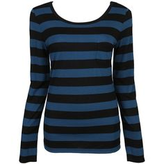 Fab Striped LS Top ($6.50) ❤ liked on Polyvore featuring tops, shirts, long sleeved, sweaters, t-shirts, long sleeve scoop neck top, long-sleeve shirt, extra long sleeve shirts, striped long sleeve shirt and forever 21 shirts