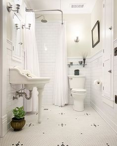 Home Interior Living Room Master Bathroom Reveal (with sources! Cheap Bathrooms, Upstairs Bathrooms, Master Bathroom, Small Bathroom, Pink Bathrooms, Farmhouse Layout, Farmhouse Style, Craftsman Farmhouse, Farmhouse Design