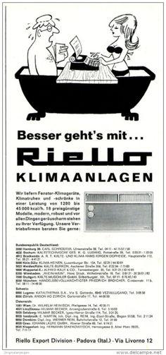 Original-Werbung/ Anzeige 1969 - CARTOON / RIELLO KLIMAANLAGEN - ca. 110 x 240 mm