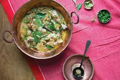 Telangana Chicken (Telangana-Style Curried Chicken Stew) Recipe | Saveur Stew Chicken Recipe, Chicken Thigh Recipes, Chicken Curry, Recipe Stew, Food Dishes, Main Dishes, Side Dishes, Asia Food, Indian Food Recipes