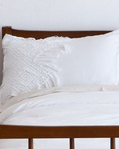 The White French Crochet Sham Pair by HomeMint.com, $89.99 oh mercy...