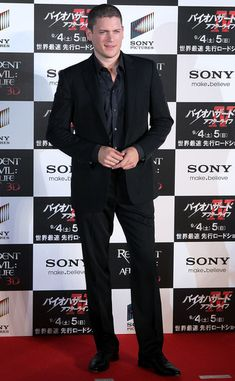 Actor Wentworth Miller poses on the red carpet during the World Premiere of 'Resident Evil: Afterlife' at Roppongi Hills on September 2, 2010 in Tokyo, Japan. The film will open worldwide on September 10.