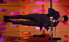Friday night on the Graham Norton Show, Zachary does his pole stunt! 👌#Epic #Sick ❤️😘😘