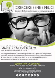 Crescere bene e felici - i bisogni dei bambini e il ruolo educativo dei genitori - Incontro al Centro Studi La Contrada con la pedagogista Alessandra Neri