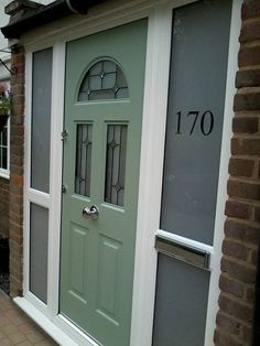 Looking for a new front door, great security and a fabulous on trend colour? This customer photo shows the Cartwell Green Rockdoor www.valuedoors.co.uk