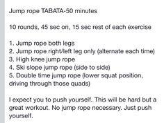 Indoor Jump rope TABATA workout-Cardio