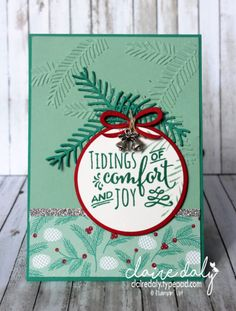 Stampin Up Christmas Pines Christmas card from the 2016 Holiday Catalogue. Card by Claire Daly Stampin Up Demonstrator Melbourne Australia