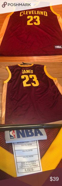 big sale a17b9 07daf Lebron James Cavs Basketball Jersey size XL Preowned Lebron James Cleveland  cavaliers nba Jersey 23 Size