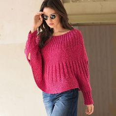 Knitting pullover poncho Size: For knitting a pullover we need Yarn cotton, Poncho Knitting Patterns, Knitted Poncho, Knit Patterns, Clothing Patterns, Hand Knitting, Rosa Pullover, Crochet Summer Dresses, Knit Jacket, Pulls
