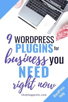 9 WordPress plugins for business you need right now - find out my top 9 WordPress plugins every business should have installed on their website Learn Wordpress, Wordpress Plugins, Wordpress Org, Wordpress Premium, Make Money Blogging, How To Make Money, Blogging Ideas, Website Maintenance, Wordpress Website Design