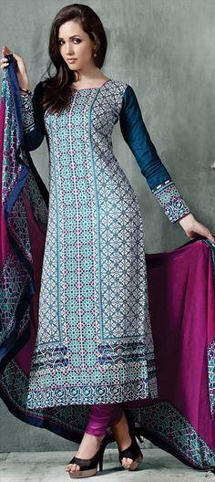 425692: MORROCO Prints.  #Salwarkameez #tends2015 #fashion #women #partywear #windows #artdeco #onlineshopping #blue